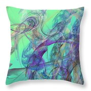 Ocean Symphony II Throw Pillow