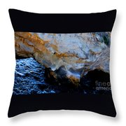 Shell Beach Ocean Tunnel Throw Pillow