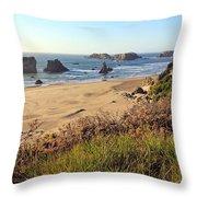 Bandon Oregon Shorelines Throw Pillow