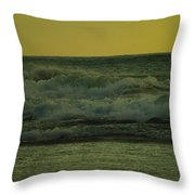 Ocean Waves Coming In Near Sunset Throw Pillow