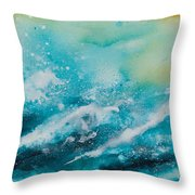 Ocean's Melody Throw Pillow