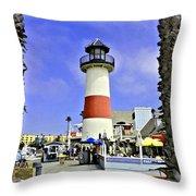 Oceanside Lighthouse Throw Pillow
