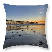 Oceanside Pier Throw Pillow