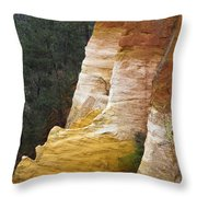 Ochre Quarry Of Roussillon, Provence Throw Pillow