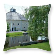 Octagonal Barn Reflects Throw Pillow