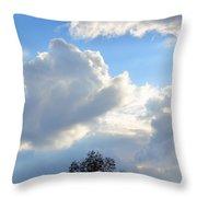 October's Cloud Illumination 2012 Throw Pillow