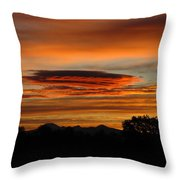 October's Colorful Sunrise 2 Throw Pillow