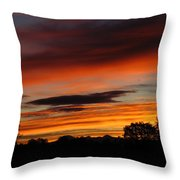 October's Colorful Sunrise Throw Pillow
