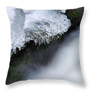 Of Ice And Water Throw Pillow