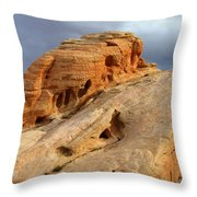 Of Light And Stone Throw Pillow