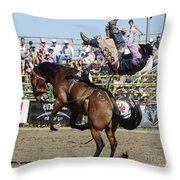 Rodeo Off In A Flash Throw Pillow