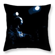 Off The Handle 2 Blue Throw Pillow