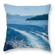 Off The Stern Throw Pillow