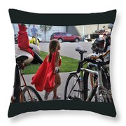 Off To Save The World- Back By Naptime Throw Pillow