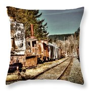 Off Track II Throw Pillow