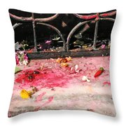 Offering Of Floweres Throw Pillow