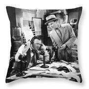 Office Scene, 1920s Throw Pillow