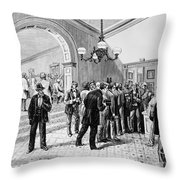 Office-seekers, 1877 Throw Pillow