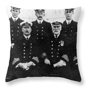 Officers Of The Titanic, 1912 Throw Pillow