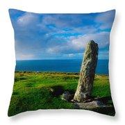 Ogham Stone, Dunmore Head, Dingle Throw Pillow