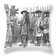 Oglethorpe At Savannah Throw Pillow