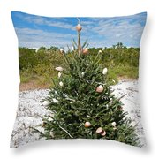 Oh Christmas Tree Florida Style Throw Pillow
