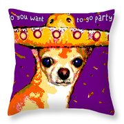Party Chihuahua Throw Pillow