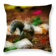 Oh I Ate To Many  Nuts Throw Pillow