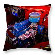 Oh So Simple Sanitary Truck Engine Throw Pillow