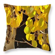 Oh Those Golden Leaves Throw Pillow