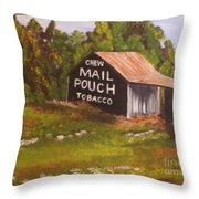 Ohio Mail Pouch Barn Throw Pillow