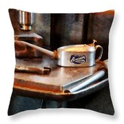 Oil Can And Wrench Throw Pillow