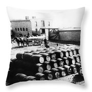 Oil: Montana, 1880 Throw Pillow