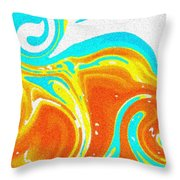 Oil On Water Throw Pillow
