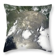 Oil Slick In The Gulf Of Mexico Throw Pillow