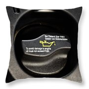 Oil Valve Cap Throw Pillow