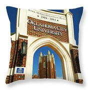 Oklahoma City University Throw Pillow