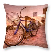 Ol' Bike Throw Pillow