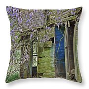 Old Abandoned House Throw Pillow