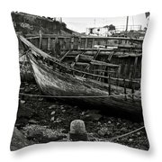 Old Abandoned Ship Throw Pillow