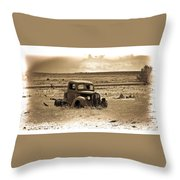 Old Abanoded Truck Fade Throw Pillow
