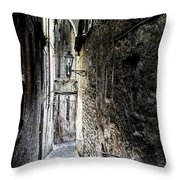 old alley in Italy Throw Pillow