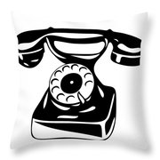 Old Analogue Phone Throw Pillow