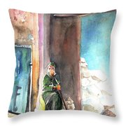 Old And Lonely In Morocco 02 Throw Pillow