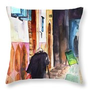 Old And Lonely In Morocco 03 Throw Pillow