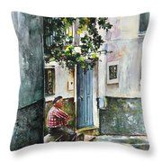 Old And Lonely In Spain 08 Throw Pillow