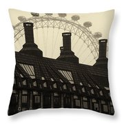 Old And New London Throw Pillow
