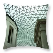Old And New Under One Roof Throw Pillow