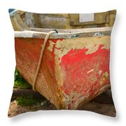 Old And Wrinkled Throw Pillow