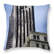 Old Architecture Is Juxtaposed Throw Pillow